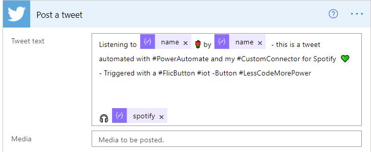 post tweet in Power Automate