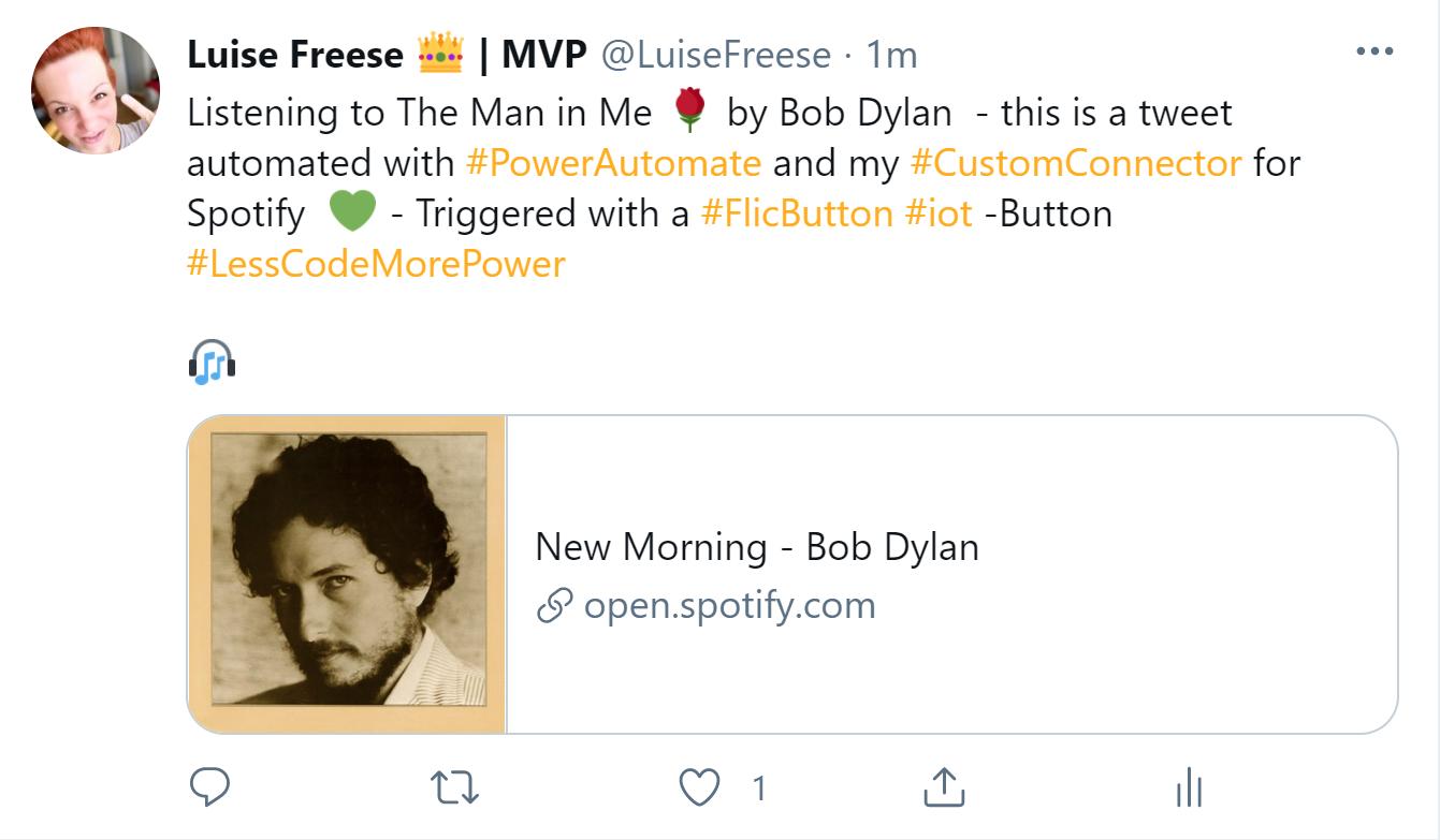 tweet about spotify