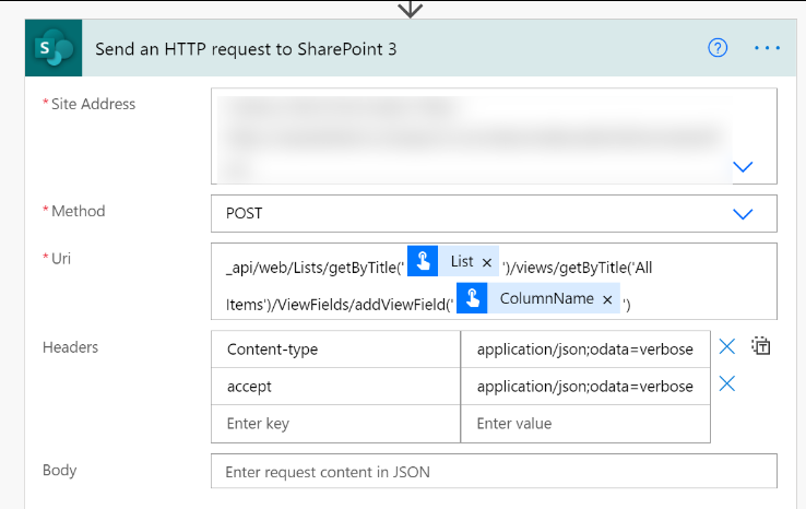 send an HTTP request to SharePoint 3