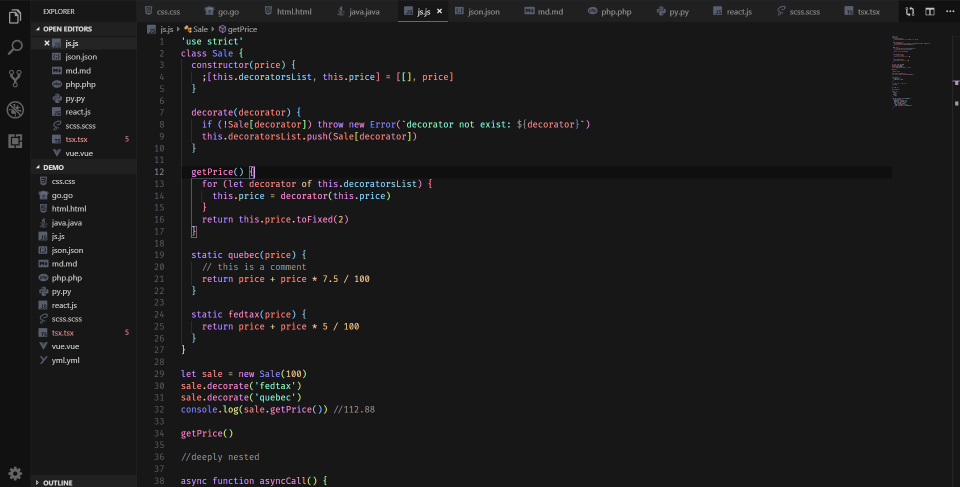Javascript Demo Image
