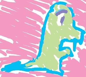 Curdely Drawn Dinosaur