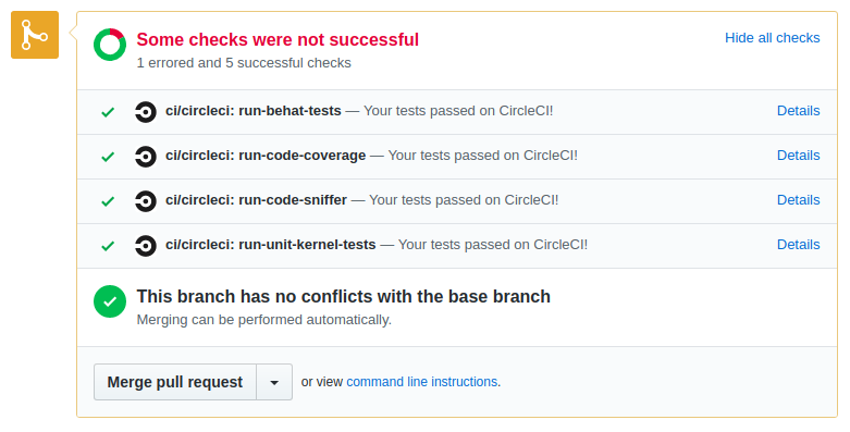 CircleCI pull request