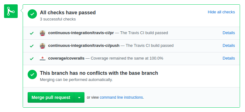 Travis pull request