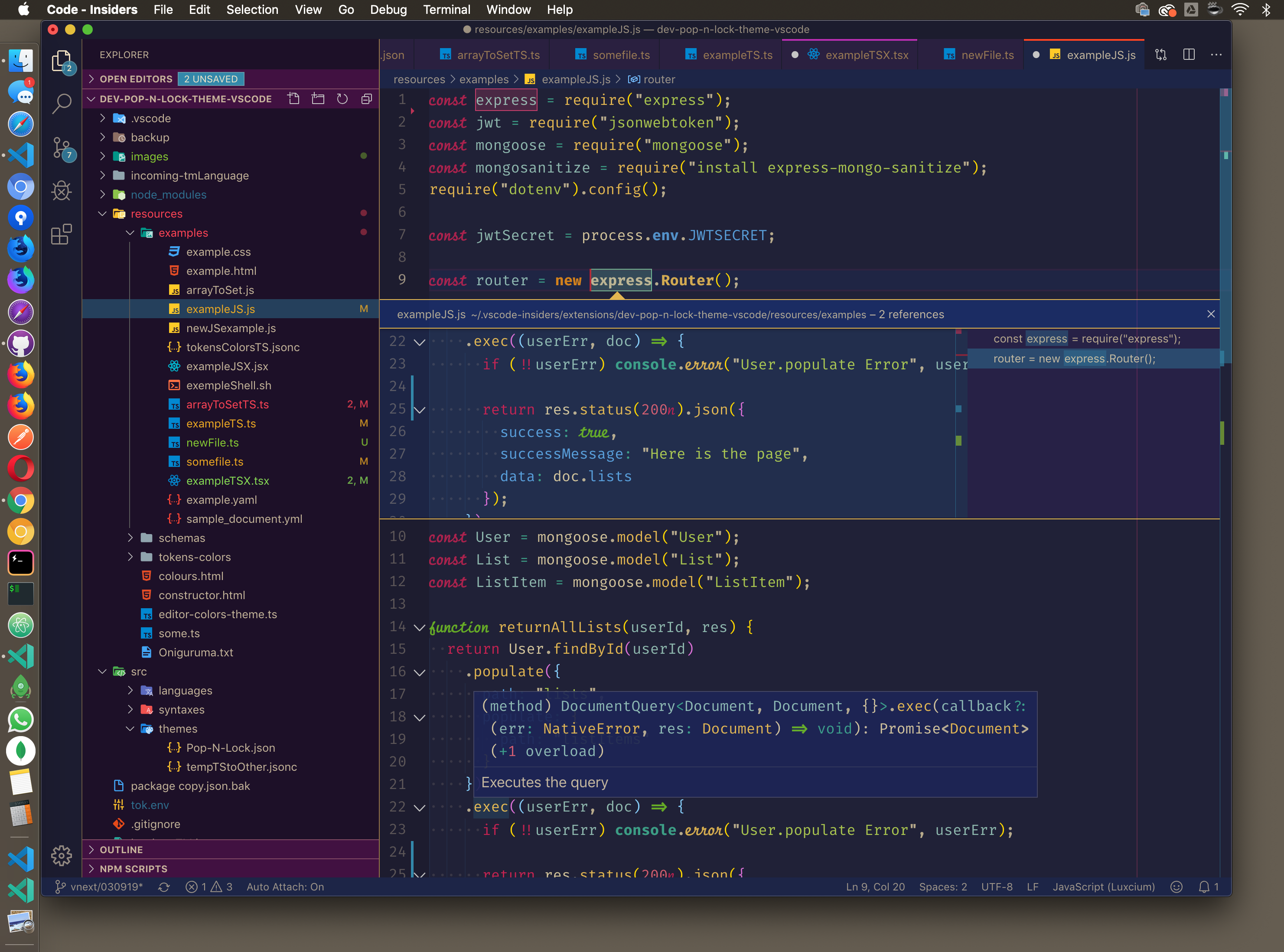 [Preview of the IDE with Pop N' Lock Theme]