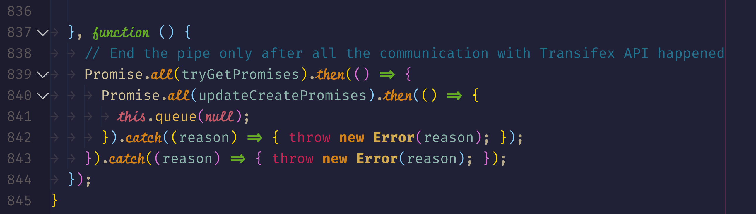 [Promise functions highlight]