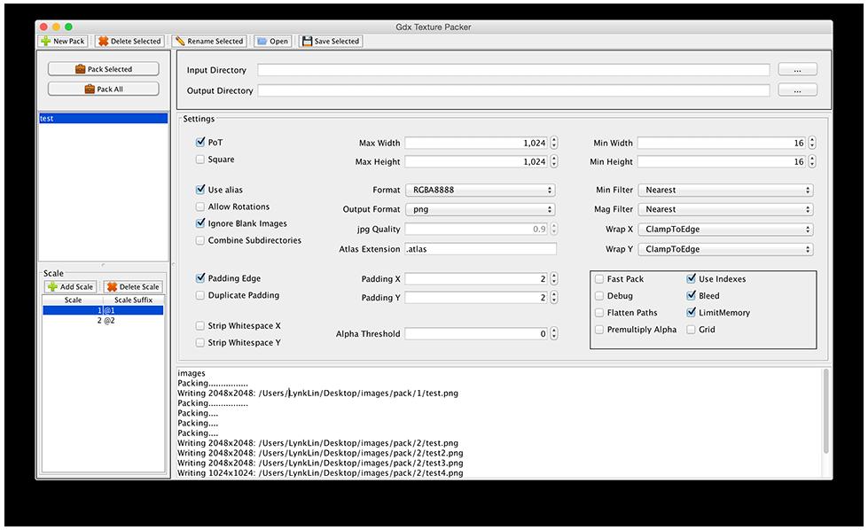 texturepacker command line
