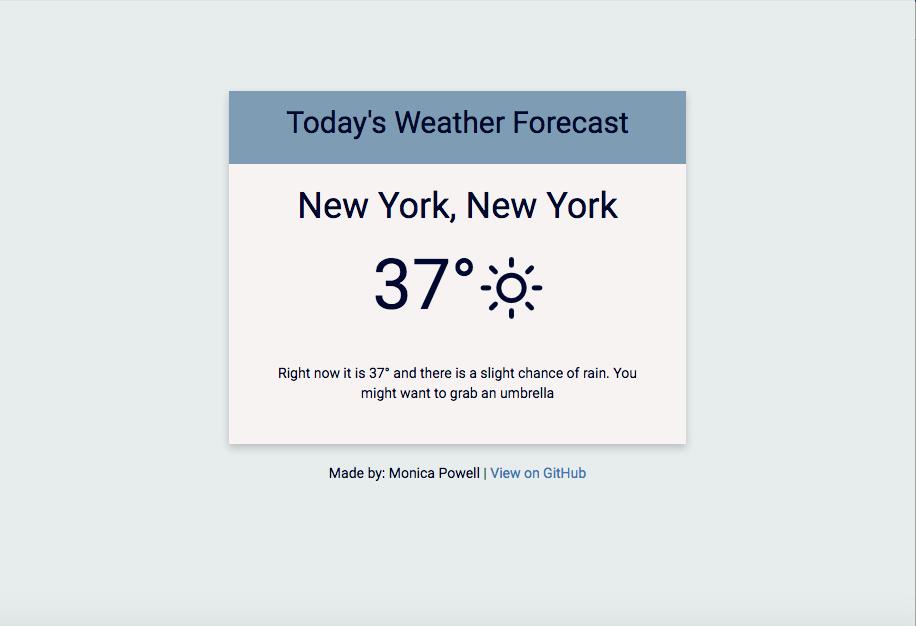 GitHub - M0nica/flask_weather: ☀️ ☔️ Flask app to auto