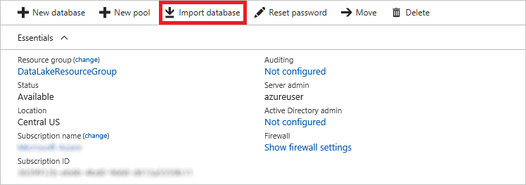 Importing a database