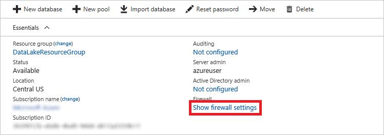Viewing firewall settings
