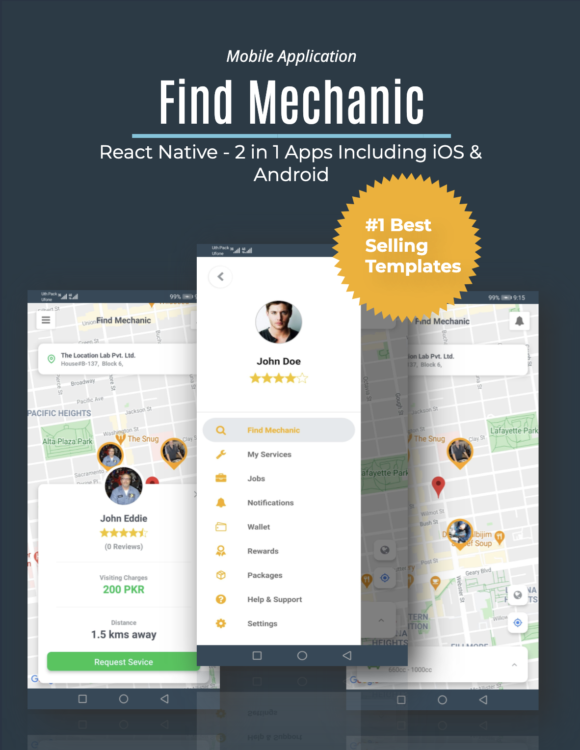 Find Mechanic - Premium React Native Full Application Template for iOS & Android - 1