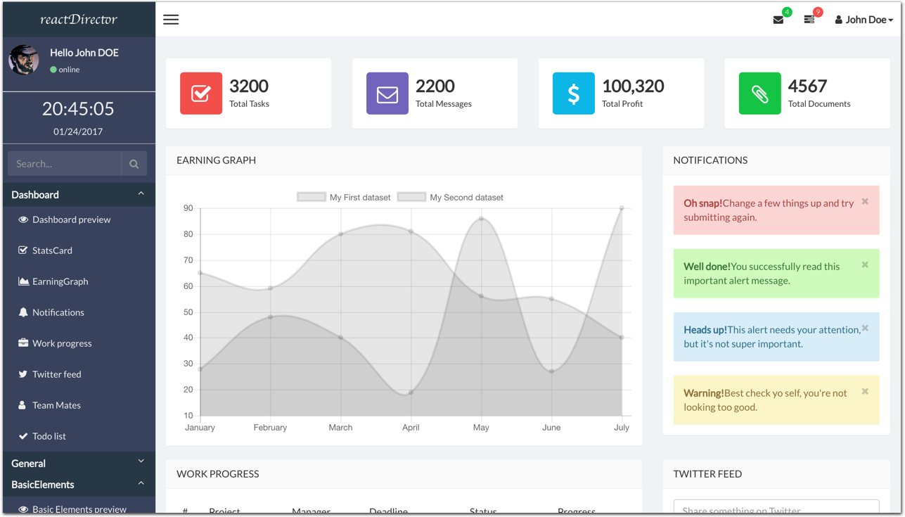 admin template free download in php - github mackentoch react director admin template reactjs