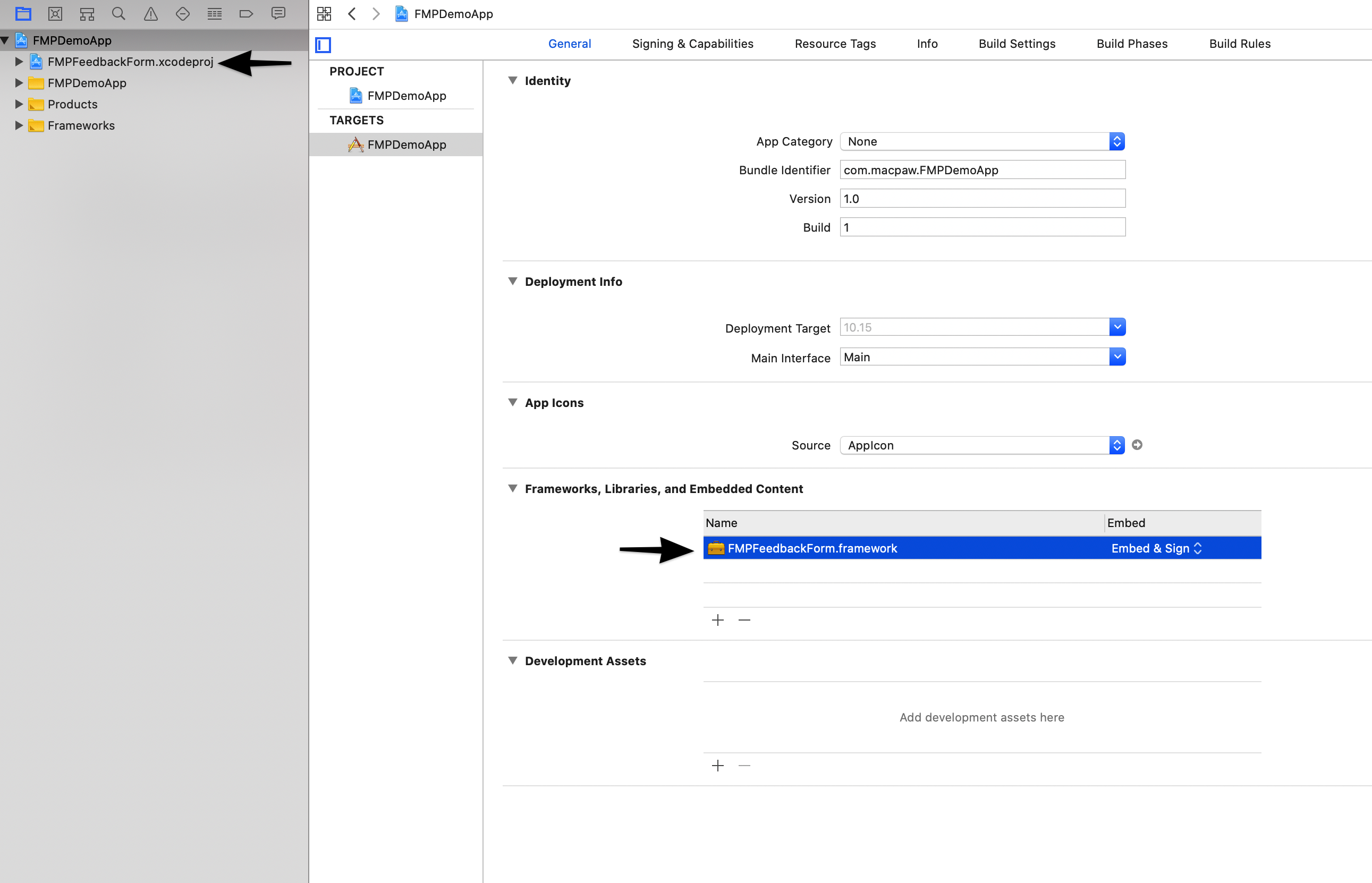 Add framework manually