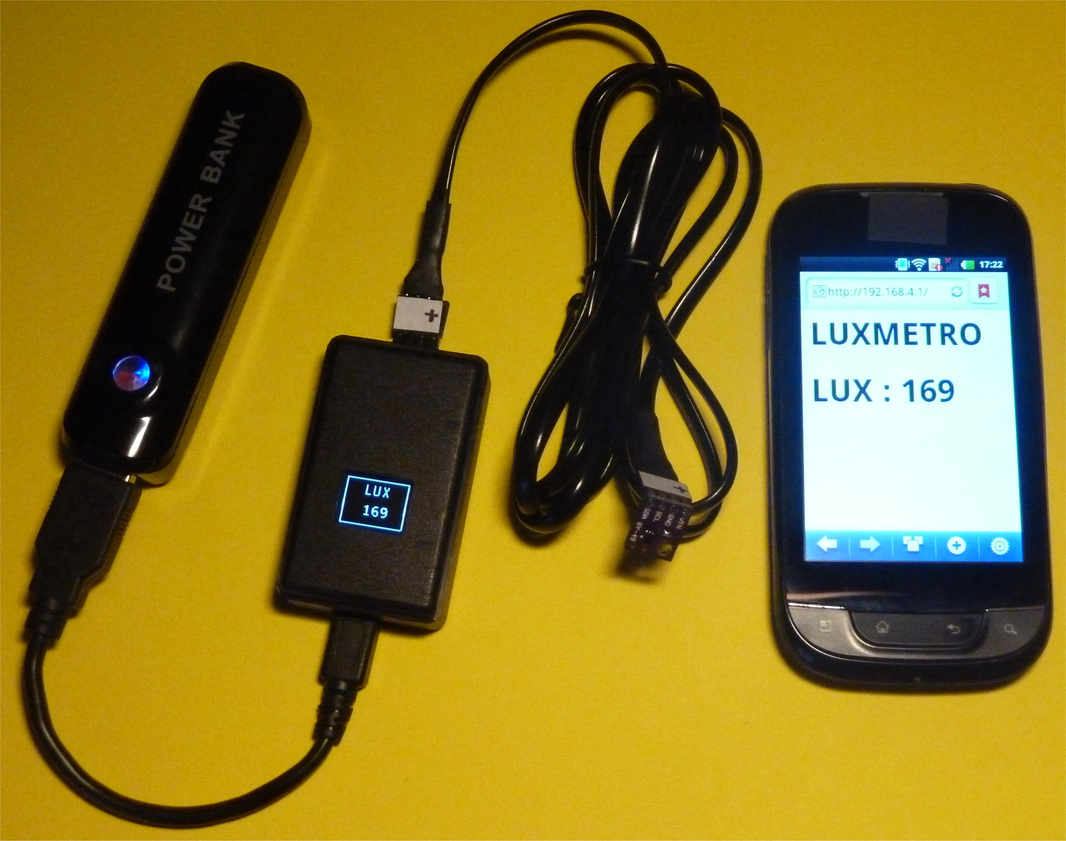 Luxmetro WiFi WeMos D1 mini