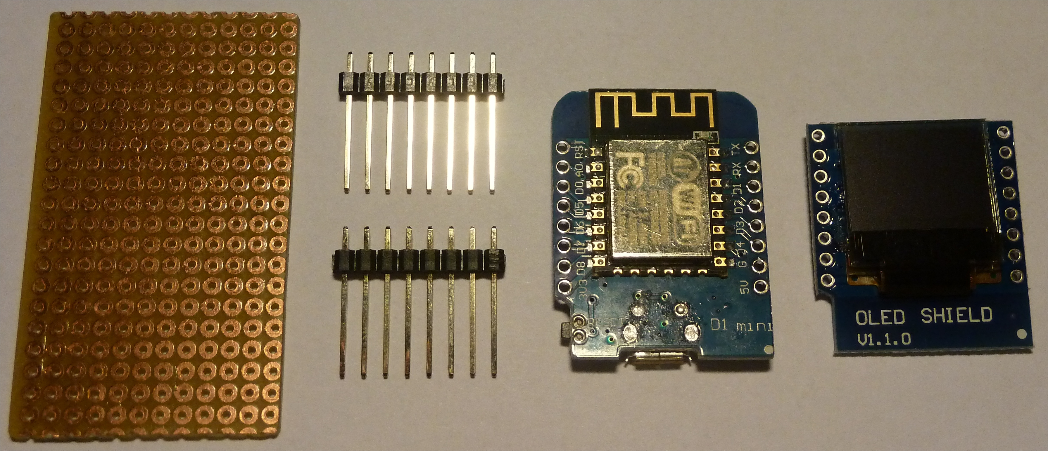 Componenti Luximetro WeMos D1 Wifi OLED