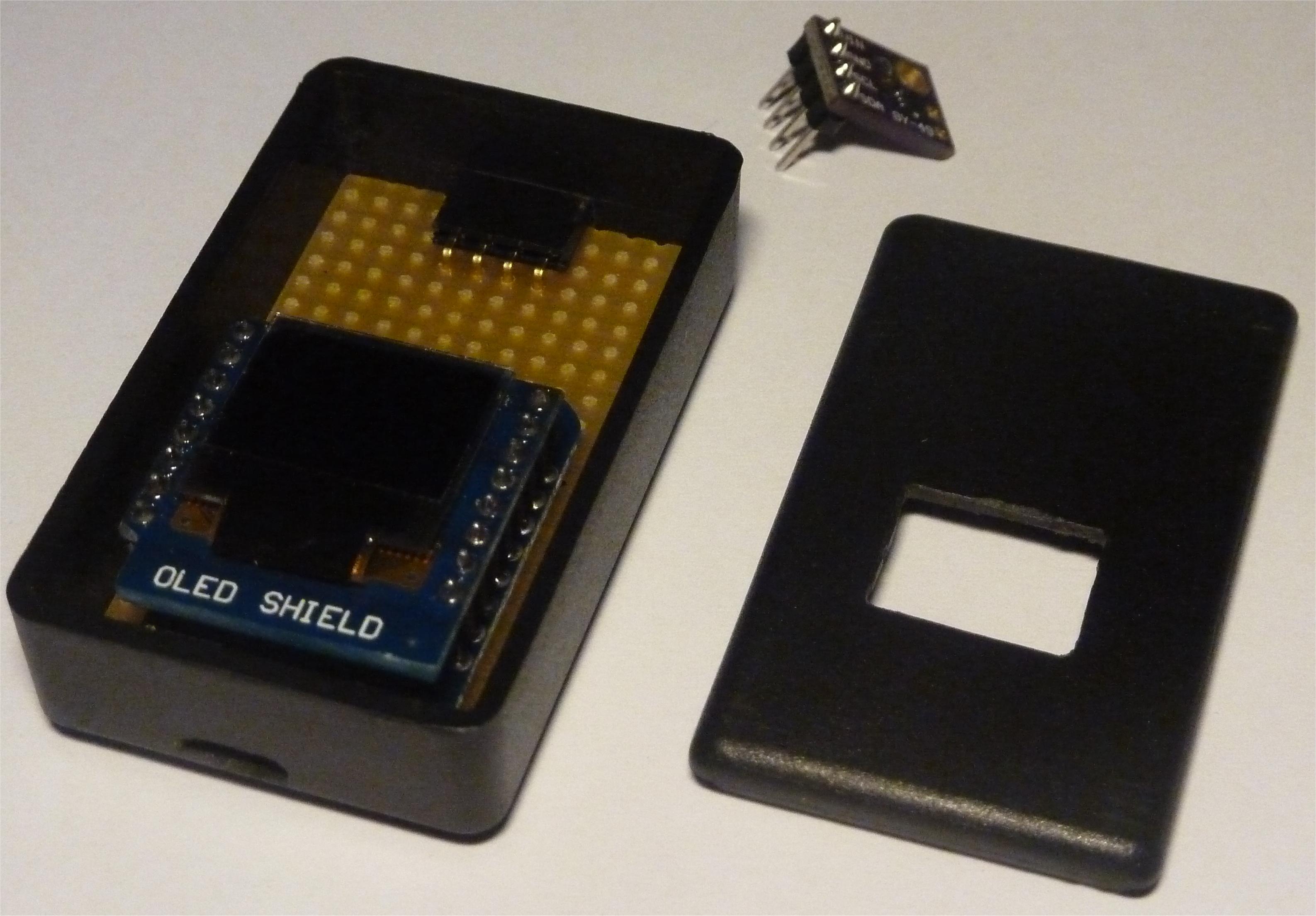 Luxmetro WiFi WeMos D1 ABS case & OLED