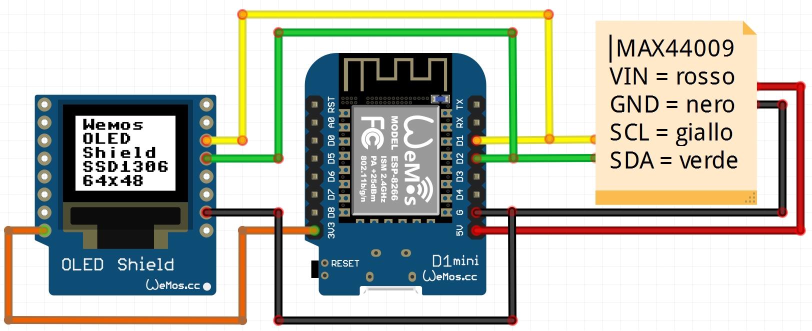 Luxmetro WiFi WeMos schema