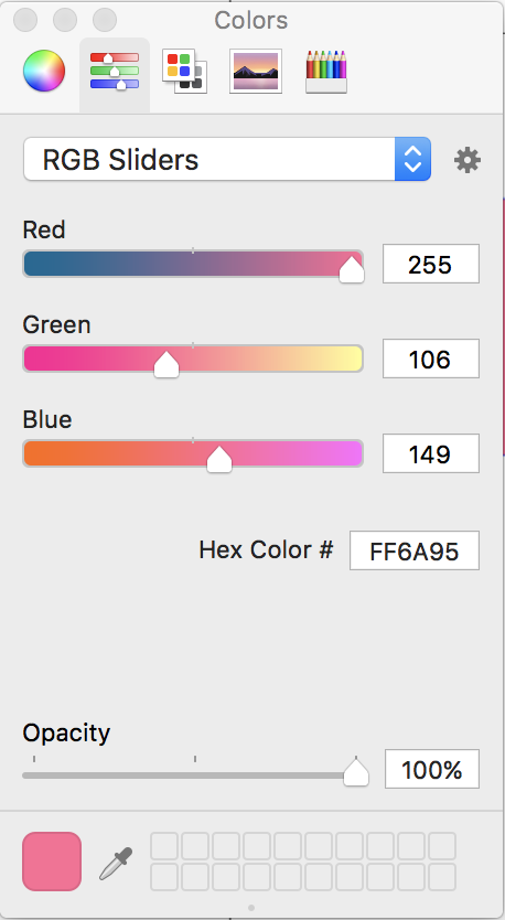 Color Sliders