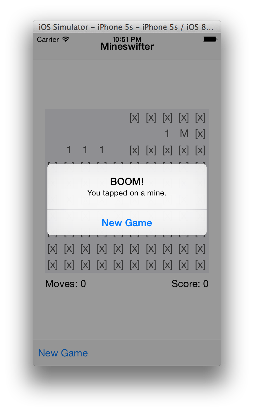 Modal with new game prompt