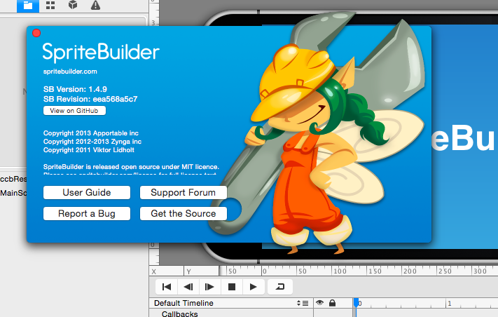 SpriteBuilder Version 1.4.9