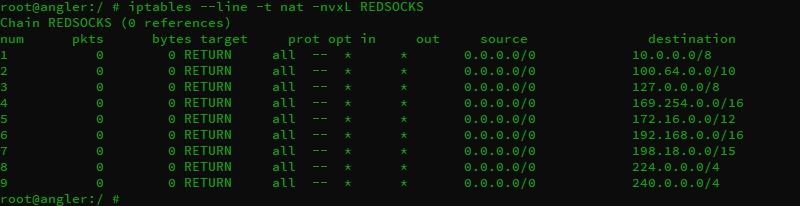add rules to nat.REDSOCKS chain.