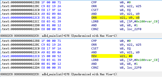 adbd.adbd_main adbroot asm modify 22C8