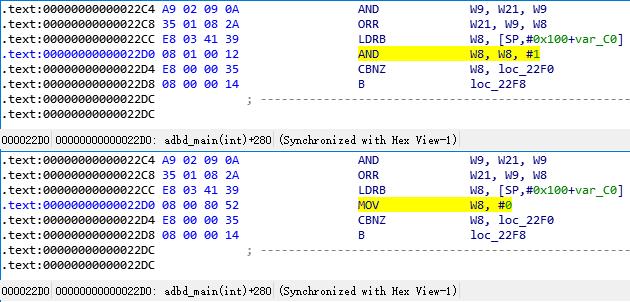 adbd.adbd_main adbroot asm modify 22D0