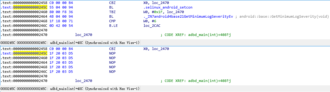 adbd.adbd_main adbroot asm modify 245C