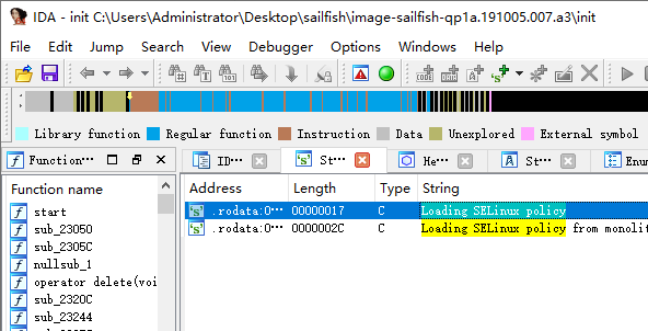 init.SelinuxInitialize string location