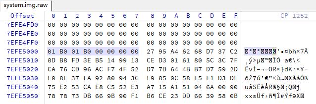 system.img.raw avbmeta magic enabled