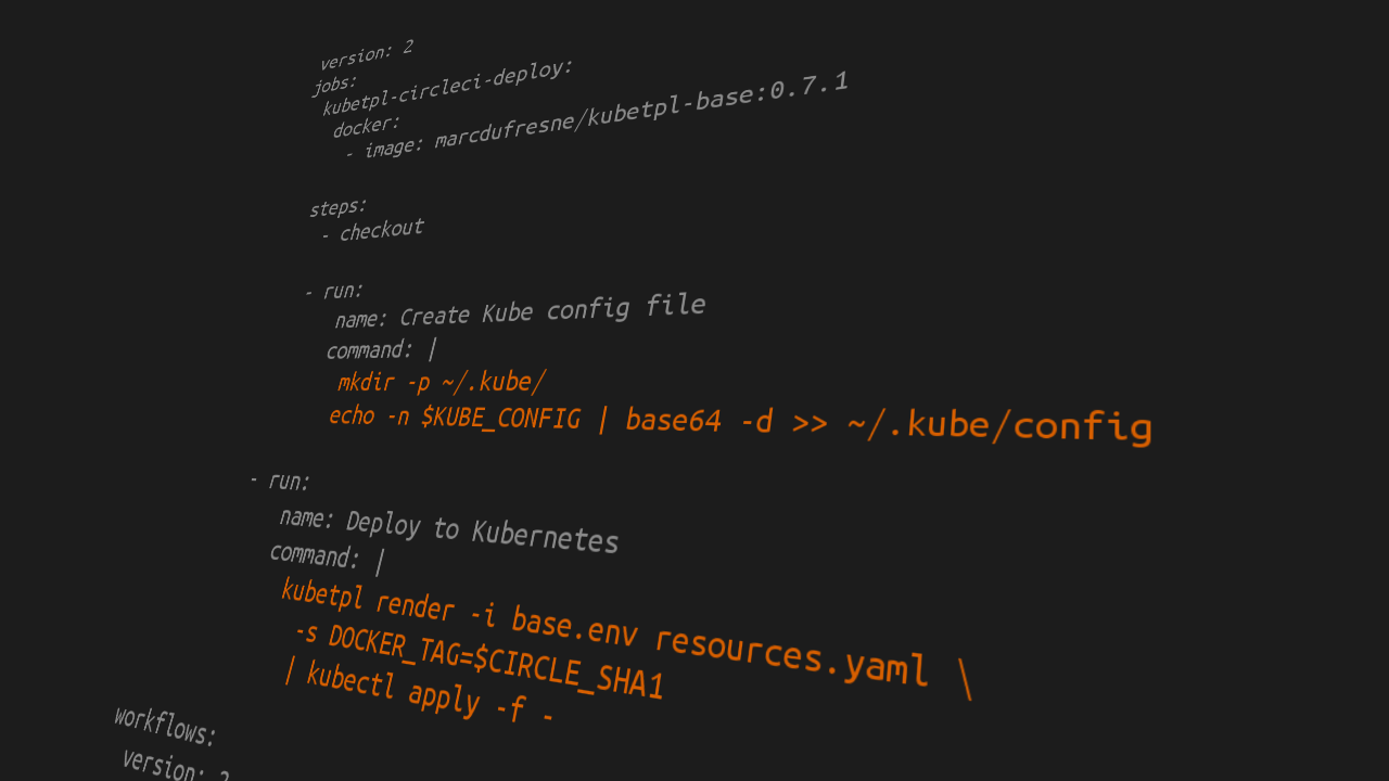 Deploying on Kubernetes using CircleCI and Kubetpl