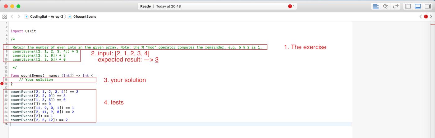 GitHub - Marceeelll/codingbat-swift: CodingBat solutions