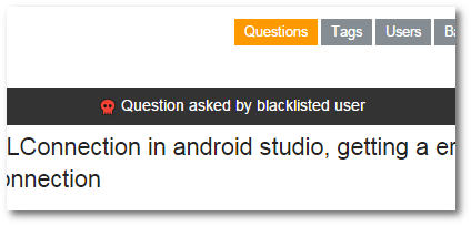 blacklisted user question