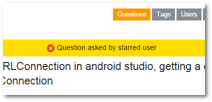 starred user question