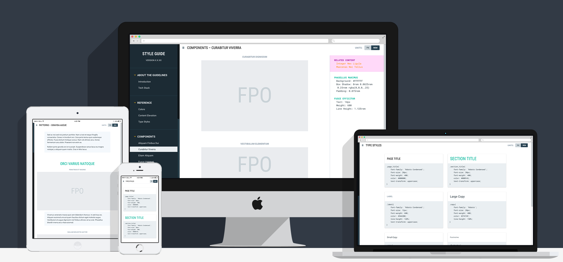 Style Guide Responsive Layout
