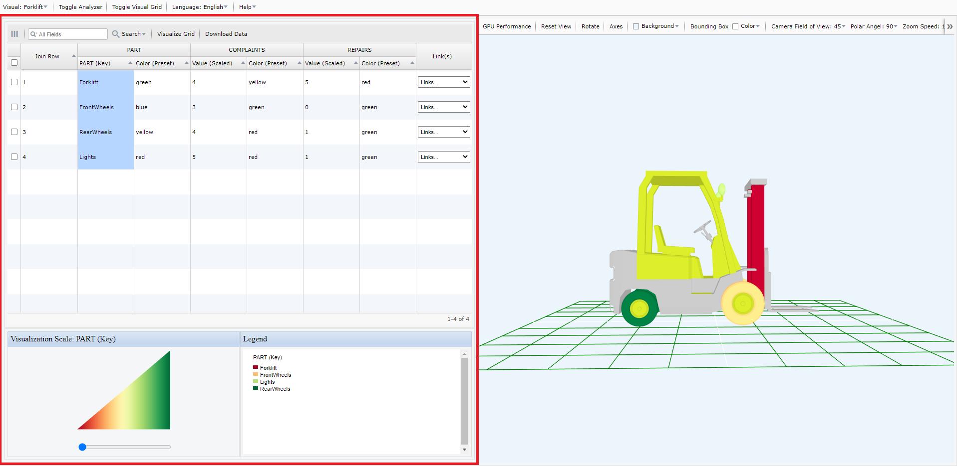 Screen Shot of My Data Visualizer ForkLift2