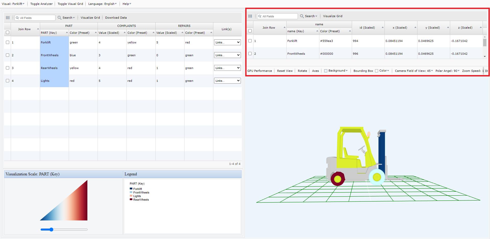 Screen Shot of My Data Visualizer ForkLift4