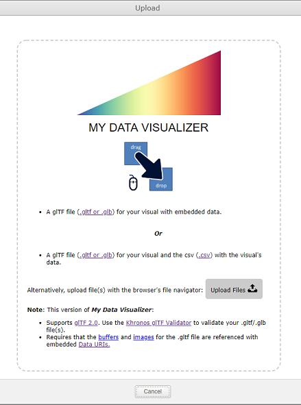 Screen Shot of My Data Visualizer Upload