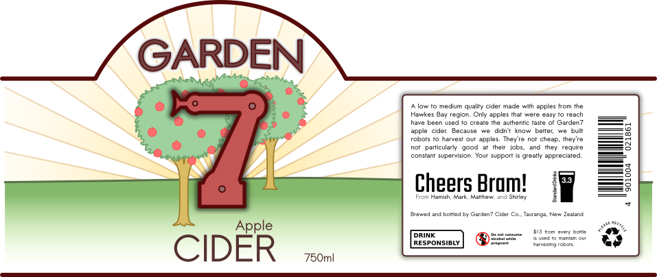 Garden7 Cider Label