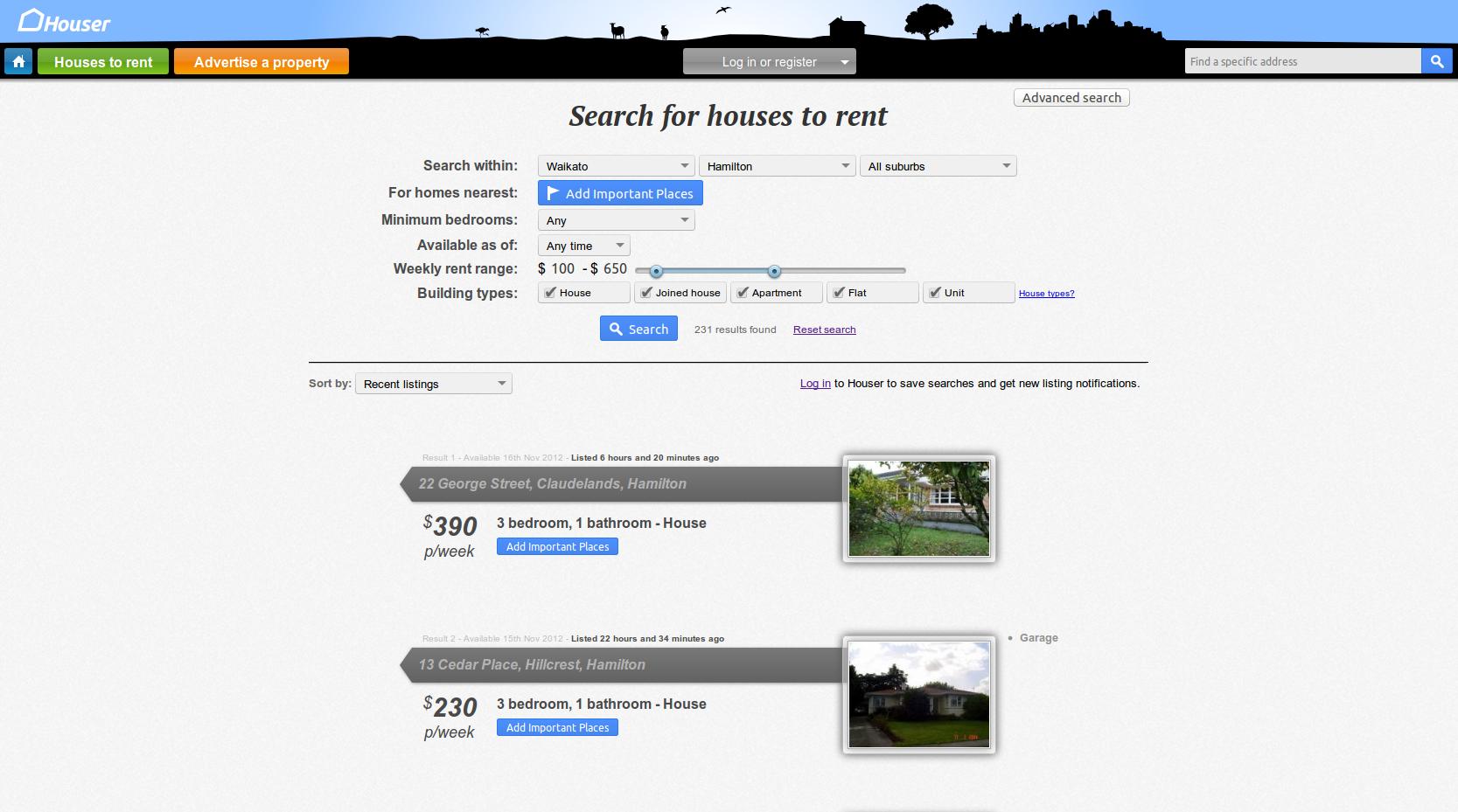 Houser Screenshot Search