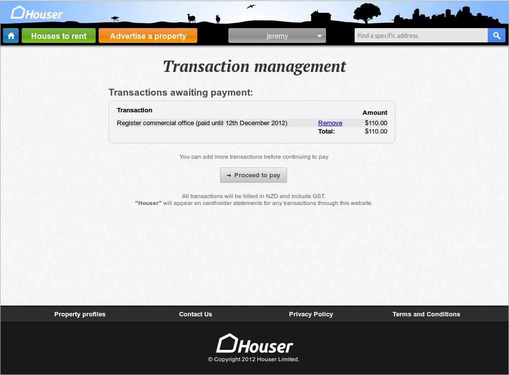 Houser Screenshot Transaction