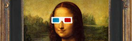 Mona Lisa With 3D Glasses