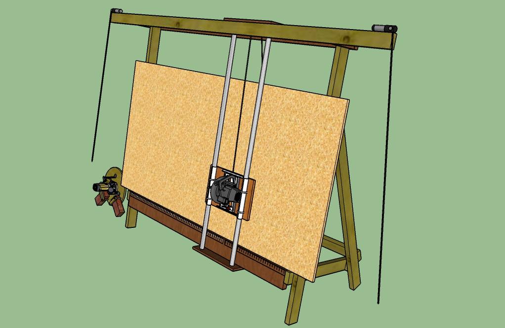Maslow CNC with Panel Saw mod by John Montani