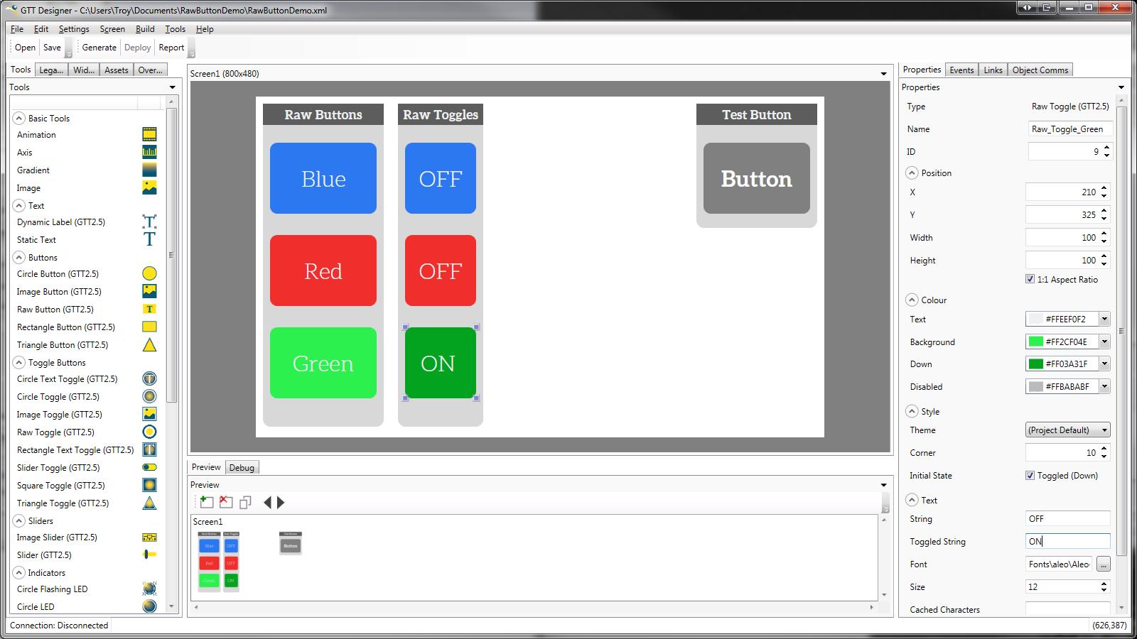 GTT Designer Environment