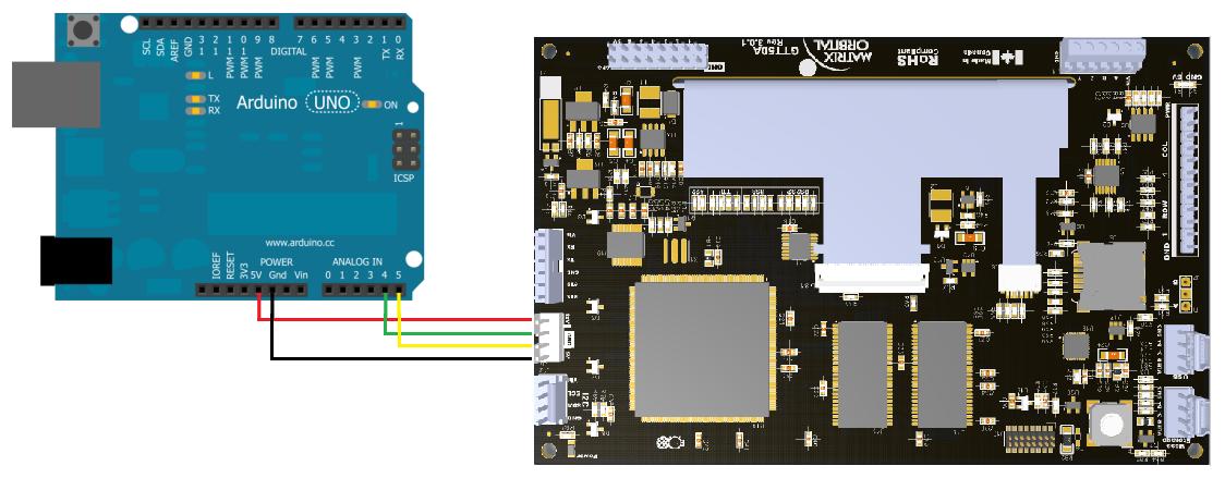 Arduino Uno to GTT50A Wiring Diagram