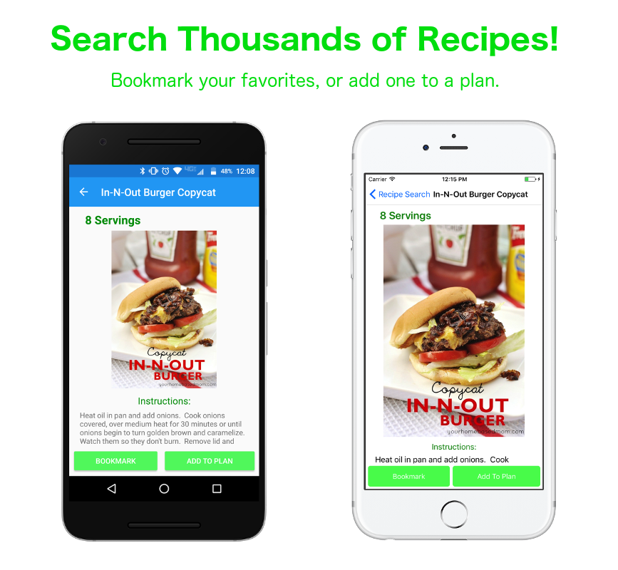 Search thousands of recipes