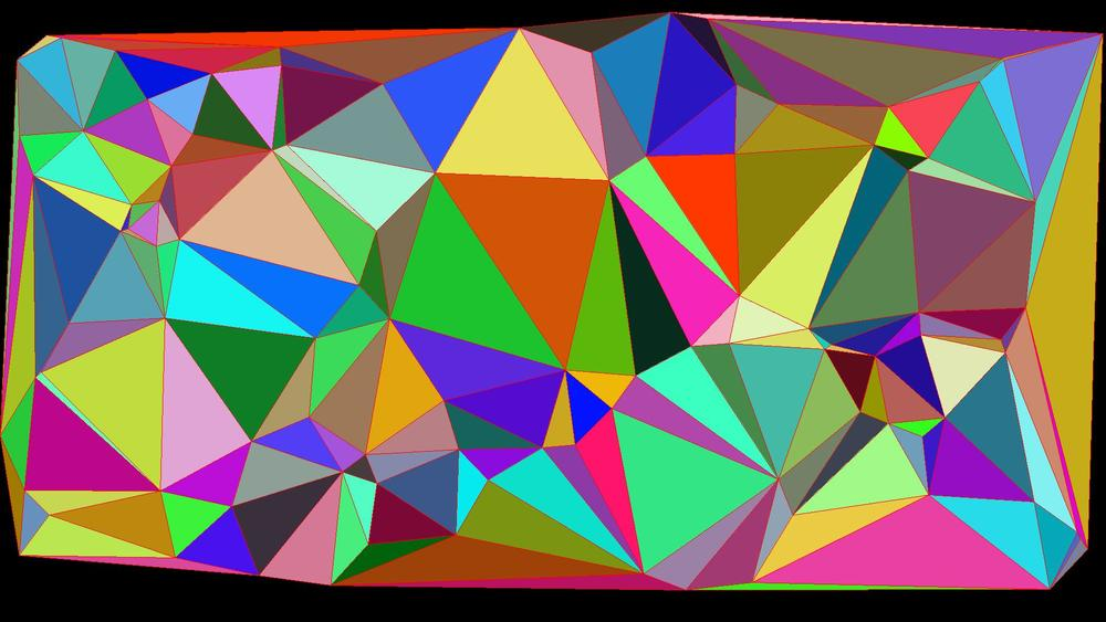Image of a triangulation of 100 points