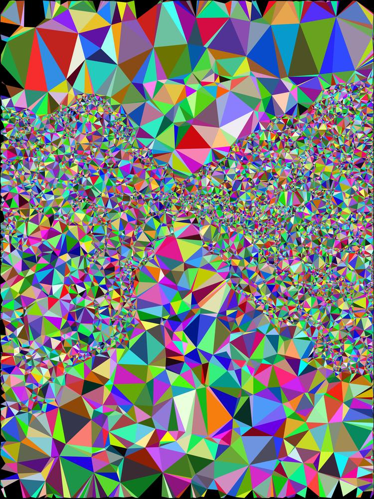 Triangles with random colors
