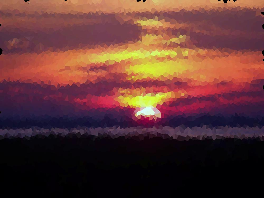 Voronoi-diagrams of a sunset