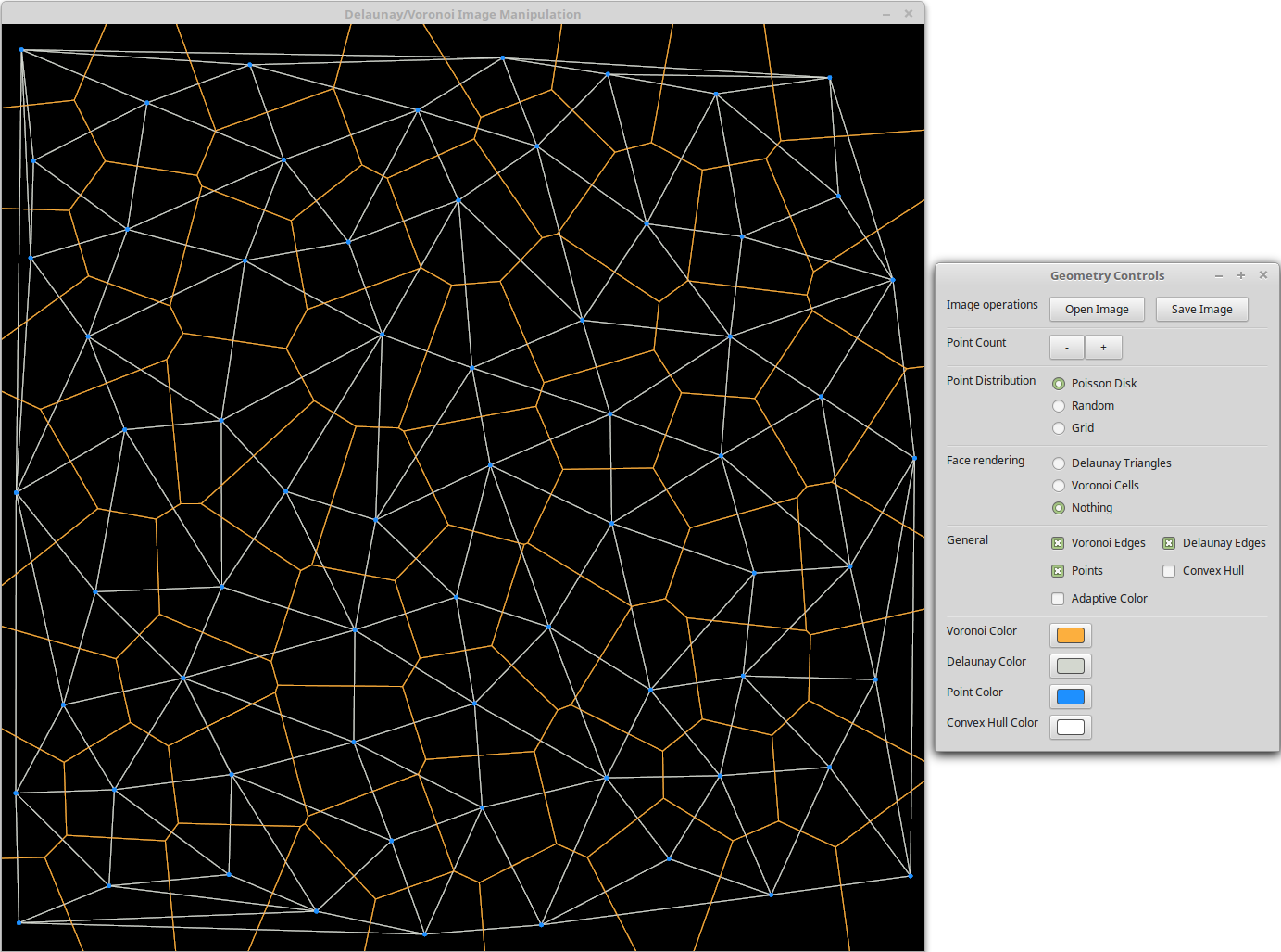 Just voronoi and delaunay