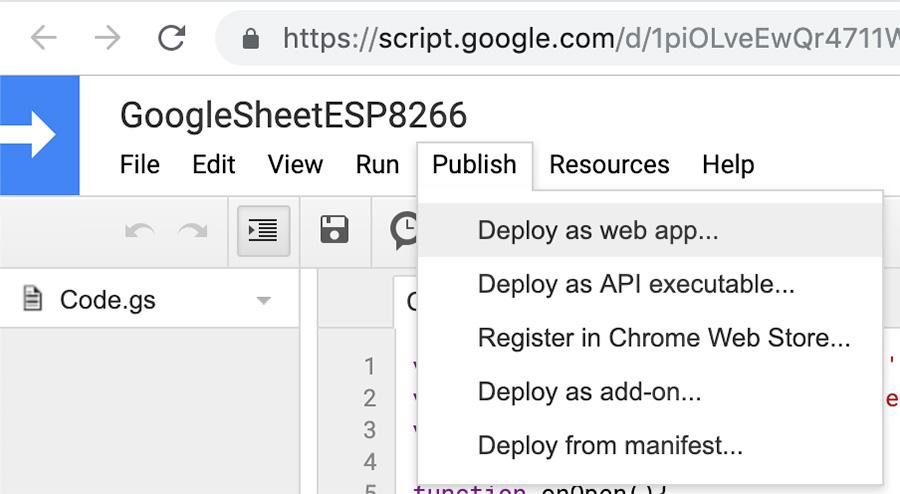 IFTTT Weather Google script code publish deploy